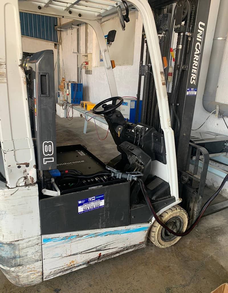 carretilla unicarriers con batería de litio Endurance en Unicarriers